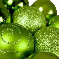 Green Mixed Finish Shatterproof Baubles - 24 X 60mm