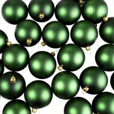 Luxury Green Matt Shatterproof Baubles - Pack of 24 x 67mm