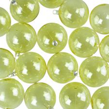 Yellow Tinted Transparent Shatterproof Baubles - Pack of 18 x 67mm