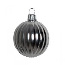 Pack Of 12 Silver Cut Shatterproof Baubles - 45mm