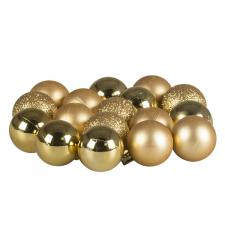 Gold Mixed Finish Shatterproof Baubles - 17 X 30mm
