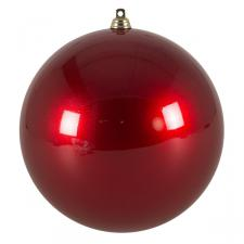 Red Metallic Finish Shatterproof Bauble - 140mm
