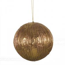 Antique Copper Finish Metallic Bauble - 12cm
