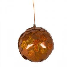 Large Orange Sequin Bauble - 150mm