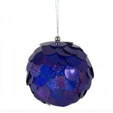 Large Purple Sequin Bauble - 150mm