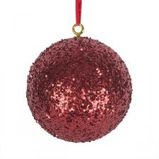 Red Sequin Ball Hanger - 200mm
