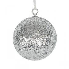 Silver Sequin Ball Hanger - 140mm