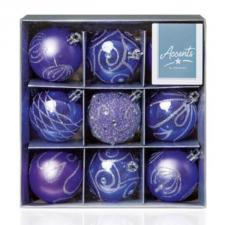 Pack Of Lilac Decorated Shatterproof Baubles - 9 X 60mm