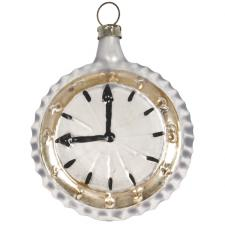 Nostalgic Handmade Glass Pocket Watch Collectable Christmas Bauble - 6.5cm
