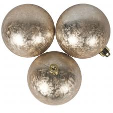 Pearl Ice Lacquer Finish Shatterproof Baubles - 3 X 80mm