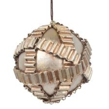 Platinum & Copper Metallic Steam Punk Bauble - 80mm