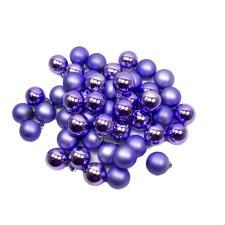 Lavender Shatterproof Baubles - Pack Of 48 X 40mm