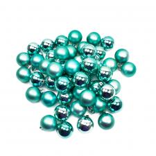 Turquoise Shatterproof Baubles - Pack Of 48 X 40mm