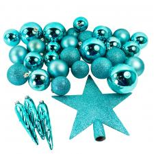 Turquoise Assorted Shatterproof 33 Piece Decorating Pack