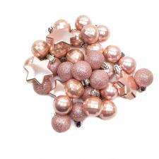 Pale Pink Shatterproof 33 Piece Decorating Pack