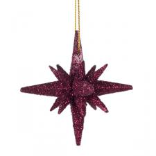 Dark Red Hanging David Stars - 6 X 6.5cm