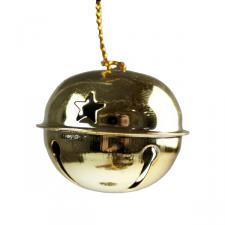 Gold Metal Jingle Bells - 12 X 40mm