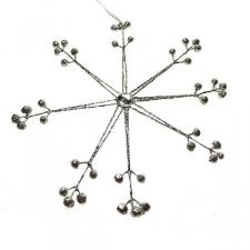 25cm Silver And Sparkle Snowflake