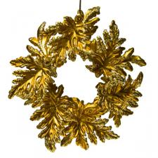 Gold Leaf Wreath - 13cm