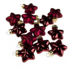 Dark Red Glass Stars - 12 x 40mm