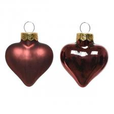 Rosewood Brown Glass Hearts - 12 x 40mm