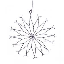 Silver Spiral Wire Snowflake Decoration - 15cm