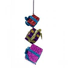 Multi Coloured Hanging Gift Box Set - 16cm X 5cm