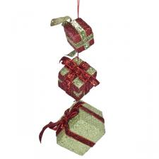 Red And Green Hanging Gift Box Set - 16cm X 5cm