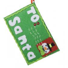 Gisela Graham Snowman Letter To Santa Envelope Hanger - 7cm x 11.5cm