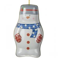 Gisela Graham Snowman Tin Container Decoration - 11cm