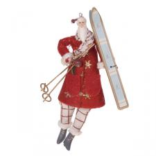 Gisela Graham Hanging Alpine Santa Decoration - 11cm