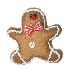 Gingerbread Character Decoration With Bow Tie - 13cm
