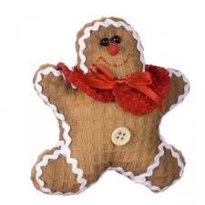 Gingerbread Character Decoration With Red Shawl - 13cm