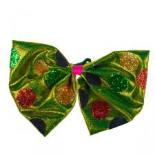 Retro Multicoloured Bow Tie On Clip - 21cm X 15cm