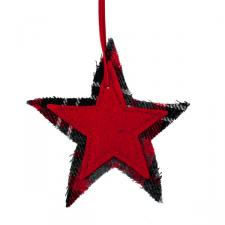 Red Star Hanging Decoration - 10cm x 10cm