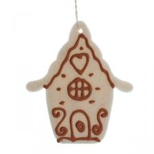 Cream Felt Hanging House - 11cm