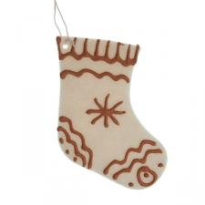 Cream Felt Hanging Stocking - 12cm