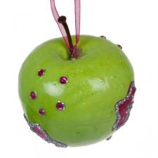 Green Apple Hanging Decoration With Stars - 70mm