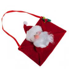 Gisela Graham Plush Santa Envelope Bag Hanging Decoration