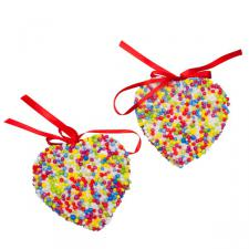 Heart Shaped Candy Decorations - 2 x 9cm