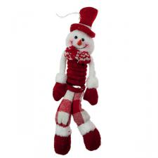 Red And White Hanging Springy Snowman - 26cm