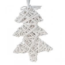 White Willow Wicker Hanging Decoration - 24cm x 16cm