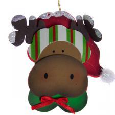 Foam Reindeer Decoration - 12cm