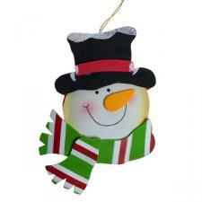 Foam Snowman Decoration - 12cm