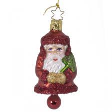 Inge-Glas 9cm Santa With Bell