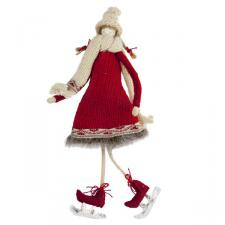 Nordic Skating Girl Hanging Decoration - 22cm