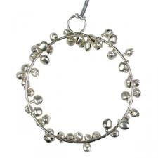 Silver Jingle Bell Decoration - 8cm