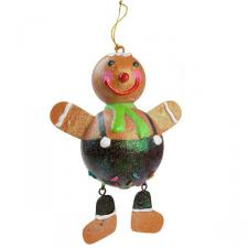 Gingerbread Hanging Decoration - 17cm