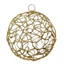 Gold Woven Metal Mesh Decoration - 75mm