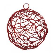 Red Woven Metal Mesh Decoration - 75mm